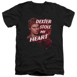 Image for Dexter T-Shirt - V Neck - Bloody Heart
