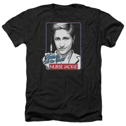 Image for Nurse Jackie Heather T-Shirt - Nurses Call the Shots
