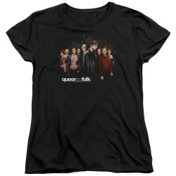 Image for Queer as Folk Woman's T-Shirt - Title