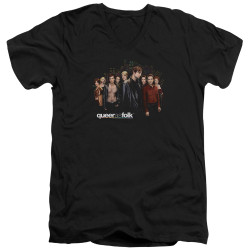 Image for Queer as Folk T-Shirt - V Neck - Title