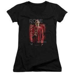 Image for The Borgias Girls V Neck T-Shirt - Pope Alexander VI