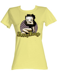 Image for Betty Boop Girls T-Shirt - Circle