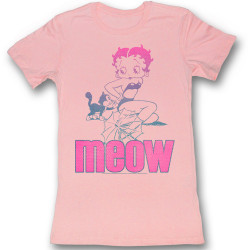 Image for Betty Boop Girls T-Shirt - Meow