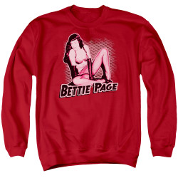Image for Bettie Page Crewneck - Pin Up Queen