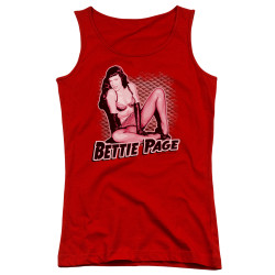 Image for Bettie Page Girls Tank Top - Pin Up Queen