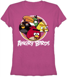 Image Closeup for Angry Birds Birdie Circle Girls T-Shirt