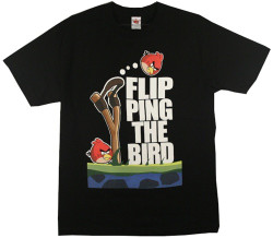 Image for Angry Birds Flipping the Bird T-Shirt