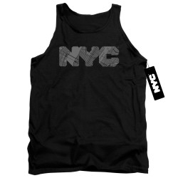 Image for New York City Tank Top - NYC Map Fill