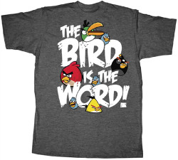 Image Closeup for Angry Birds the Bird is the Word T-Shirt