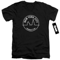 Image for New York City V Neck T-Shirt - See NYC Manhattan