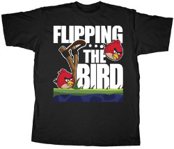 Image Closeup for Angry Birds Bird Flipping T-Shirt