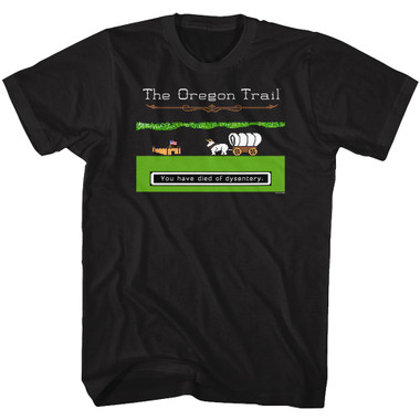 Image for The Oregon Trail Dysentery with Fort T-Shirt