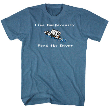 Image for The Oregon Trail Live Dangerously, Ford the River T-Shirt