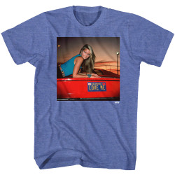 Image for National Lampoon's Vacation T-Shirt - Love Me Red Car Girl Photo