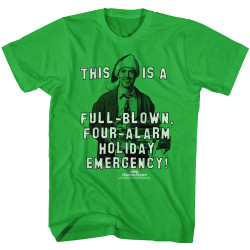 Image for National Lampoon's Christmas Vacation T-Shirt - Full-Blown, Four Alarm Holiday Emergency