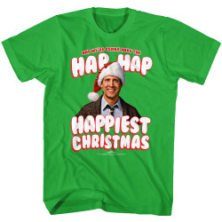 Image for National Lampoon's Christmas Vacation T-Shirt - Hap Hap Happiest Christmas