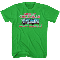 Image for National Lampoon's Christmas Vacation T-Shirt - Sh****r Was Full