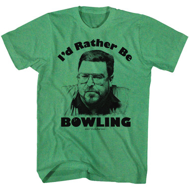 Image for The Big Lebowski T-Shirt - Rather Be Bowling