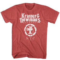 Image for Seinfeld T-Shirt - Kramer & Newman's Sausages