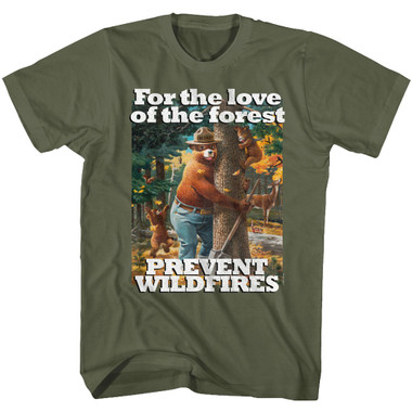 Image for Smokey the Bear T-Shirt - For the Love of the Forest