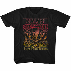 Image for The Princess Bride Beware the Dread Pirate Roberts Crest Youth T-Shirt