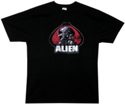 Image for Alien Distressed Portrait T-Shirt