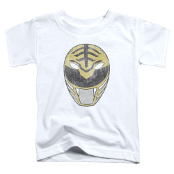 Image for Mighty Morphin Power Rangers Toddler T-Shirt - White Ranger Mask