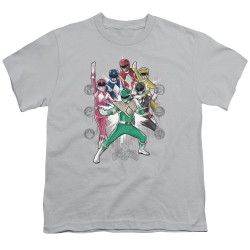 Image for Mighty Morphin Power Rangers Youth T-Shirt - Ranger Manga