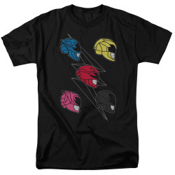 Image for Mighty Morphin Power Rangers T-Shirt - Line Helmets