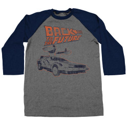 Image for Back to the Future Long Sleeve T-Shirt - Gull Wing