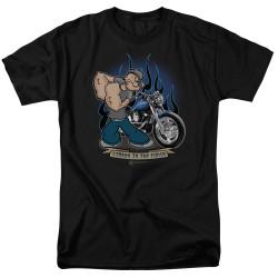 Image for Popeye the Sailor T-Shirt - Biker Popeye
