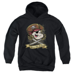 Image for Popeye the Sailor Youth Hoodie - Shiver Me Timbers