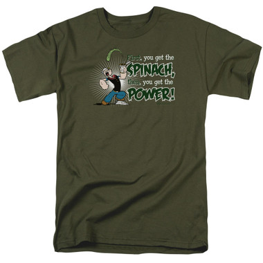 Image for Popeye the Sailor T-Shirt - Spinach Power