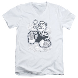 Image for Popeye the Sailor T-Shirt - V Neck - Tattooed