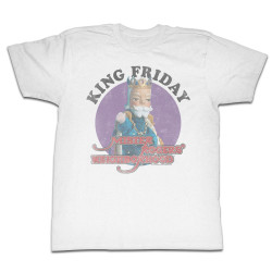 Image for Mr Rogers T Shirt - King of the Neighborhood