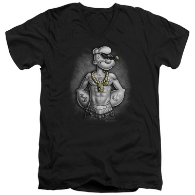 Image for Popeye the Sailor T-Shirt - V Neck - Hardcore
