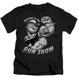Image for Popeye the Sailor Kids T-Shirt - Gun Show