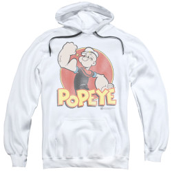 Image for Popeye the Sailor Hoodie - Retro Ring White
