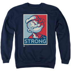 Image for Popeye the Sailor Crewneck - Strong Motorcycle