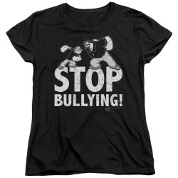 Image for Popeye the Sailor Woman's T-Shirt - Stopy Bullying