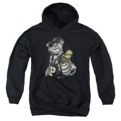 Image for Popeye the Sailor Youth Hoodie - Get More Spinach