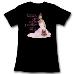 Image for Hollywood Sirens Girls T-Shirt - Audrey Happy Girls