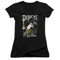 Image for Popeye the Sailor Girls V Neck T-Shirt - Vintage Sailor