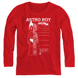 Image for Astro Boy Womens Long Sleeve T-Shirt - Schematics