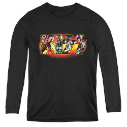 Image for Kiss Women's Long Sleeve T-Shirt - Stage Logo