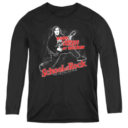 Image for School of Rock Women's Long Sleeve T-Shirt - Rockin'