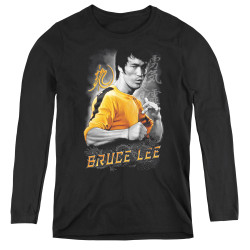 Image for Bruce Lee Women's Long Sleeve T-Shirt - Yellow Dragon