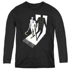 Image for Shadowman Women's Long Sleeve T-Shirt - Grim Shadow