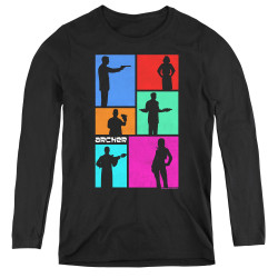 Image for Archer Women's Long Sleeve T-Shirt - Silhouettes