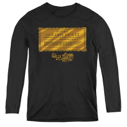 Image for Willy Wonka and the Chocolate Factory Women's Long Sleeve T-Shirt - Golden Ticket